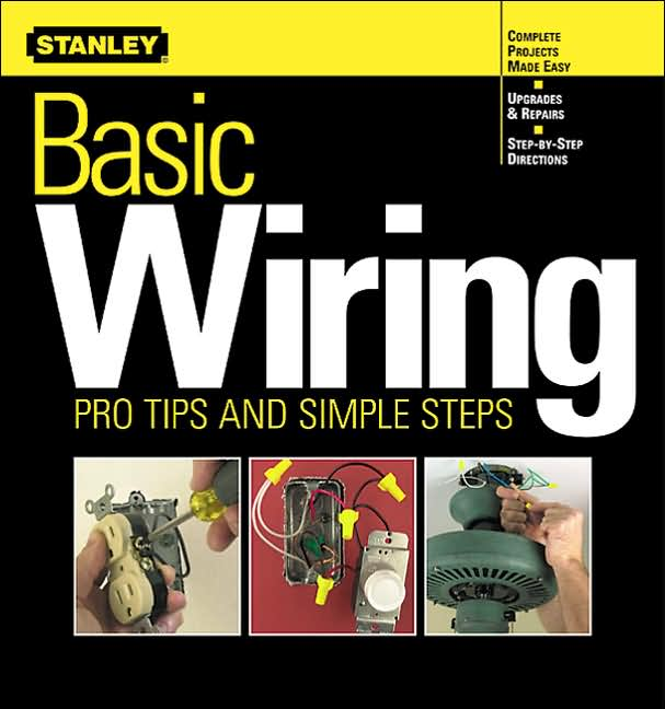 Basic repairs and replacement techniques, such as how to rewire lamps, replace switches, and install a ceiling fan.   For both novice and experts alike, an authoritative wiring guide, from one of the most recognized and trusted names in home improvement, covers basic repairs and replacement techniques, from rewiring lamps and replacing switches to installing a ceiling fan.