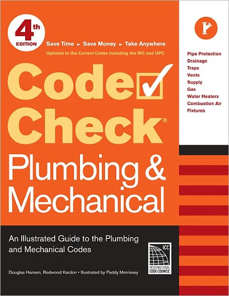 For the first time, this expanded 4th edition combines both Plumbing and HVAC. Users will find all they need to avoid the most common violations so they can meet strict code requirements. Save time, money, and potential delays with this invaluable reference guide that contains the most accurate, up-to-date information on residential plumbing and mechanical codes. Clear language, detailed reference tables, and over 100 illustrations help to clarify the complex rules and numerous code changes. Spiral bound, with durable laminated pages, this go-to book is designed for quick referencing on-site. Code Check Plumbing & Mechanical is cross-referenced to the current International Residential Code, Uniform Plumbing Code, and Uniform Mechanical Code.