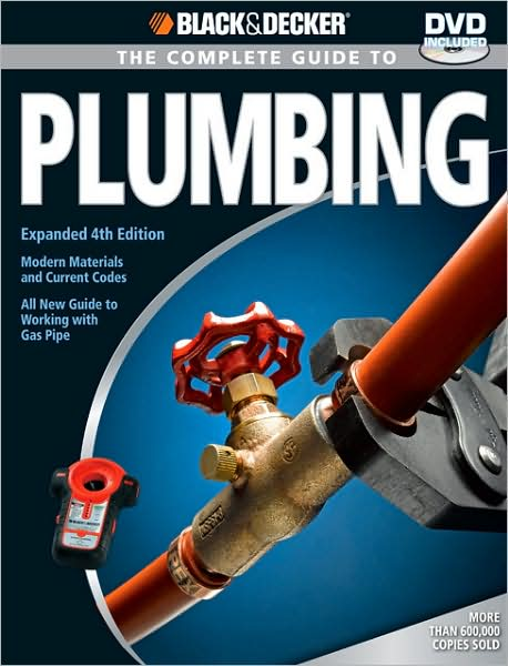 Everything you need to know about plumbing. Everything.   Fresher and more complete than ever, this edition includes new material and revised information and is completely current with the 2006 Universal Plumbing Code. From basic repairs to advanced renovations, this is the only plumbing reference book a homeowner needs. And now, for the first time, Black & Decker The Complete Guide to Plumbing includes a comprehensive section on working with gas pipe. No other big book of plumbing for DIYers covers this important subject.   Also new to this 4th edition is expansive coverage of PEX (cross-linked polyethylene), the bendable supply tubing that's taking over a major portion of the DIY market. And with the current popularity of outdoor kitchens, we've expanded our coverage of outdoor plumbing as well. Now, we'll show you every step of the process to supply and drain an outdoor sink.