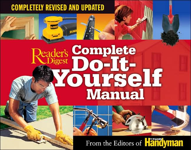 This super-handy manual, first published in 1973, has received a major upgrade. Seventeen chapters' worth of fixer-upper opportunities are enhanced with more than 3,000 photos and illustrations that would look equally at home in an upscale home decorating catalogue. The first few chapters cover hand and power tools, fasteners and adhesives, and are enough to incite hardware envy among even dwellers of tiny apartments. There is strange beauty in the cutaway views of five different hollow-wall fasteners and the machinations of nine types of pliers. But homeowners are, of course, the real target audience, and an all-new section on Landscaping reflects this with entries on fences, water gardens and retaining walls. The plumbing section offers a mega-view of wastewater-treatment systems as well as a micro-exploration of unclogging a toilet. Another new section, Storage Projects, is full of cabinets and shelves that either Swing-out or Fold-away. New technologies are generally overlooked in favor of meat-and-potatoes projects. For instance, a home satellite dish is pictured but not indexed or dwelled upon, while carpeting is charted, graphed and deconstructed in the extreme. Intriguing sidebars on wood refinishers (the fastest drying versus the safest), the financial benefits of renting specialty tools for a large drywall project and other subjects round out this must-have guide.