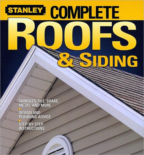 "*From asphalt shingles to vinyl siding, 192 photo-packed pages give homeowners the knowledge they need to install, repair, and maintain their home's roofing and siding.   *Pre-start checklists and Stanley Pro Tips help ensure success. ""What If"" information focuses on challenging or unusual situations.   *Covers popular roofing and siding materials and how to select, install, and maintain them.   *Step-by-step instructions walk readers through each project in detail, so they have all the information they need at every stage."